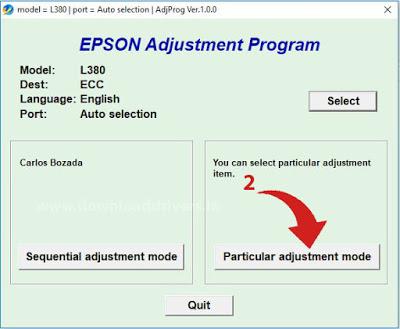 L385 L485 Reset Epson L380 L383