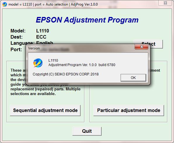 Epson L1110 resetter