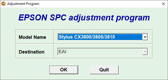 Epson CX3800 CX3805 CX3810 Resetter Free Download