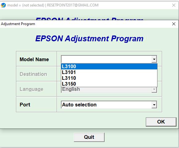 Epson L3100 L3101 L3110 L3150