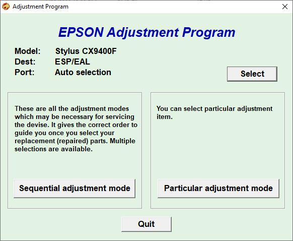 Epson CX9400F Resetter