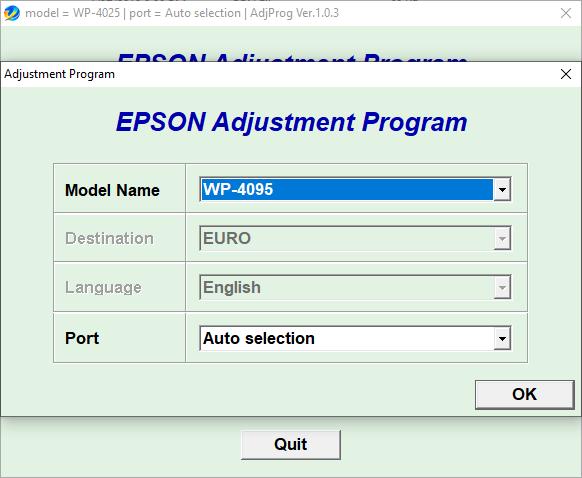 Epson WP4095 resetter