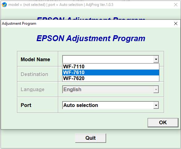 Epson WF7110 WF7610 WF7620 Resetter Free Download