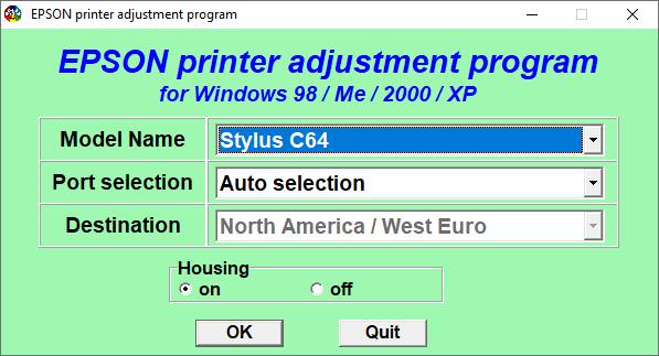 Epson C64 Resetter Adjustment Program Tool Free Download