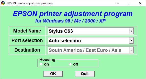 Epson C63 Resetter Adjustment Program Tool Free Download