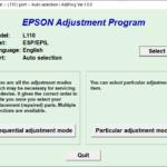 Epson L110 Resetter Adjustment Program Tool Free Download