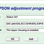 Epson C67 Resetter Adjustment Program Tool Free Download