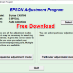 Epson CX5700 Resetter Tool Free Download