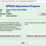 Epson PX660 Resetter Adjustment Program Tool Free Download