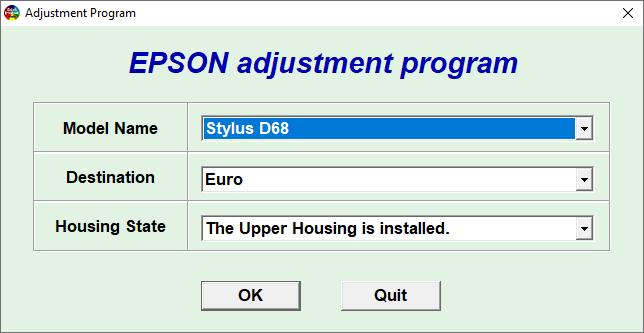 Epson D68 Resetter Adjustment Program Tool Free Download