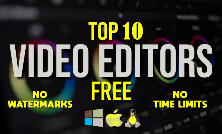10 Best Free Video Editing Software for Windows