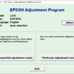 Epson L510 Resetter Tool Free Download